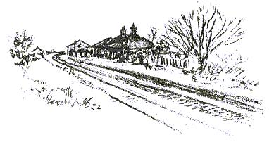 Sketch of Stoke Golding railway station