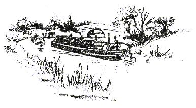 Sketch of narrowboat on the Ashby Canal, Stoke Golding