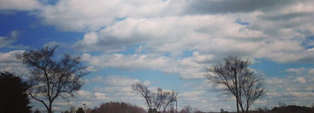 NC march skyline spring sky view clouds stolen colon stephanie hughes osotmy crohns blog