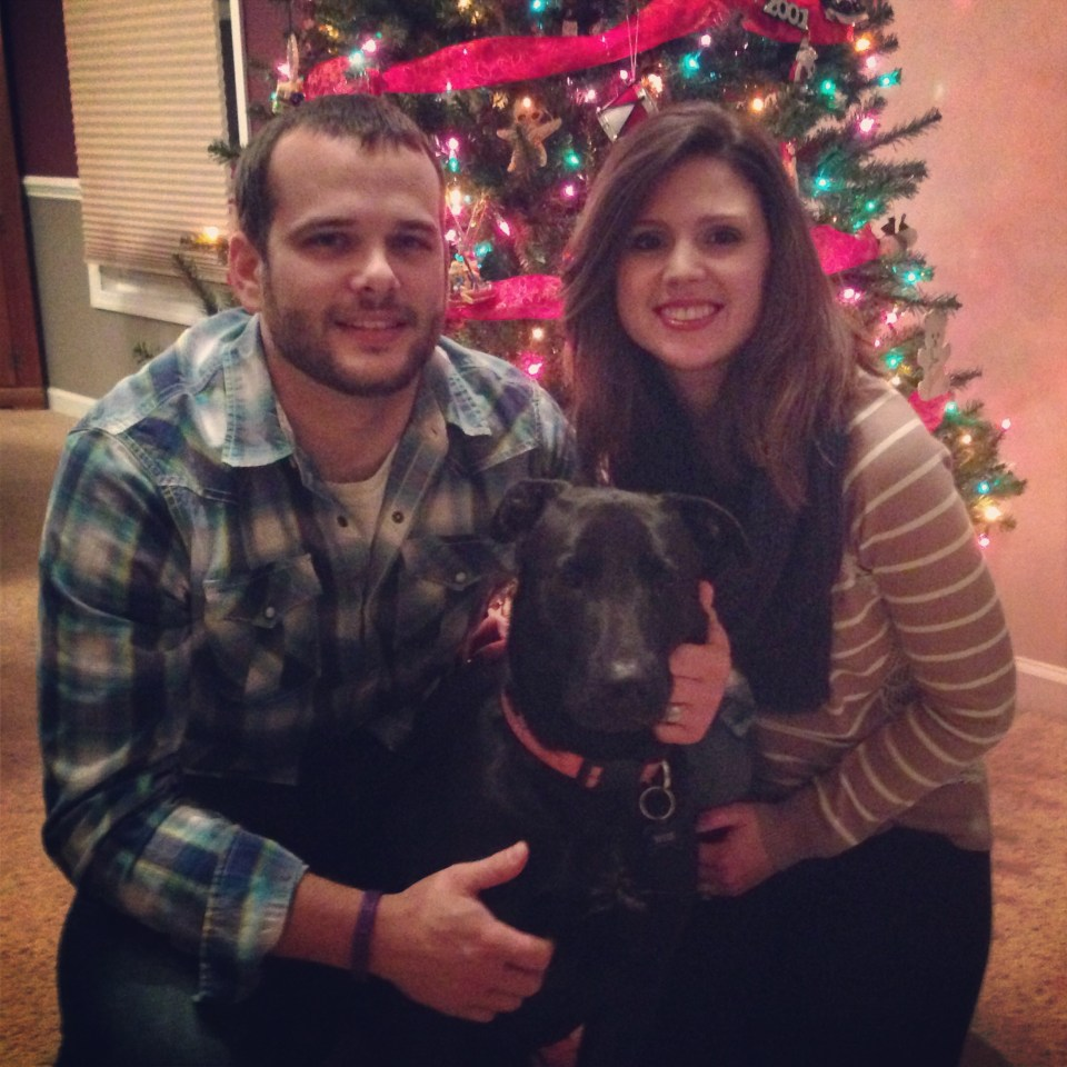 stephanie hughes jarrod rylie dog family  christmas picture portrait stolen colon crohn's disease ulcerative colitis inflammatory bowel disease ibd blog