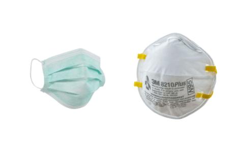 Обычная маска против респиратора N95