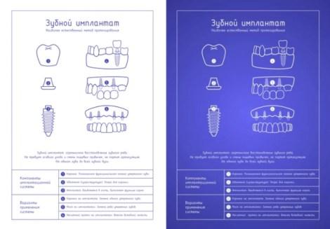 Новые плакаты Зубной имплантат лайт и Зубной имплантат блюпринт