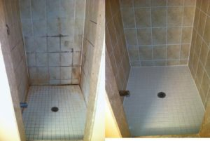 tile grout natural stone shower