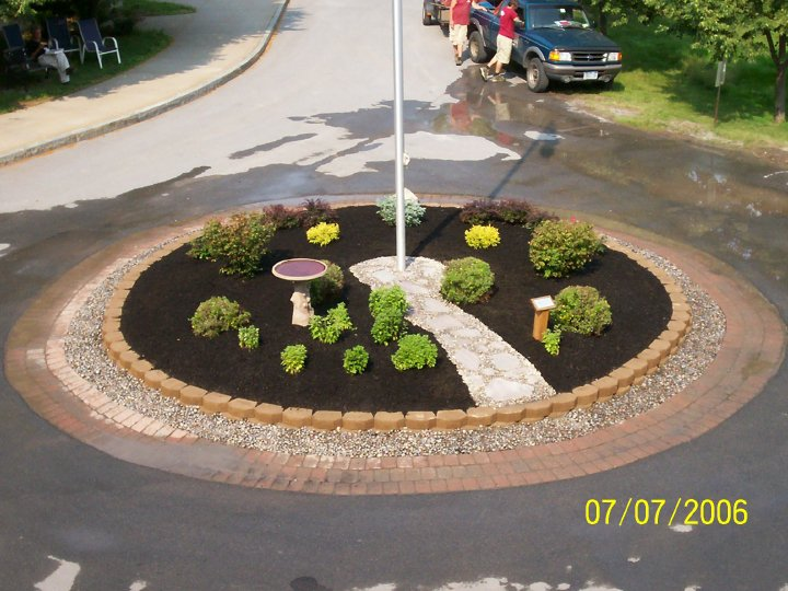 Natural Path To Flag Pole Stone Age Landscaping