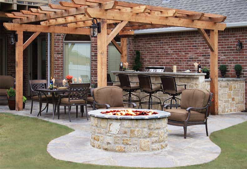 tall round fire pit stone age