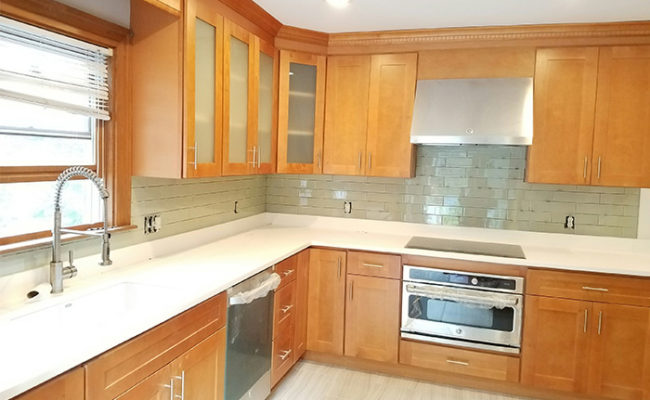 Countertops and Kitchen Cabinets in Boston and Marshfield ... on Maple Cabinets With White Countertops  id=15355