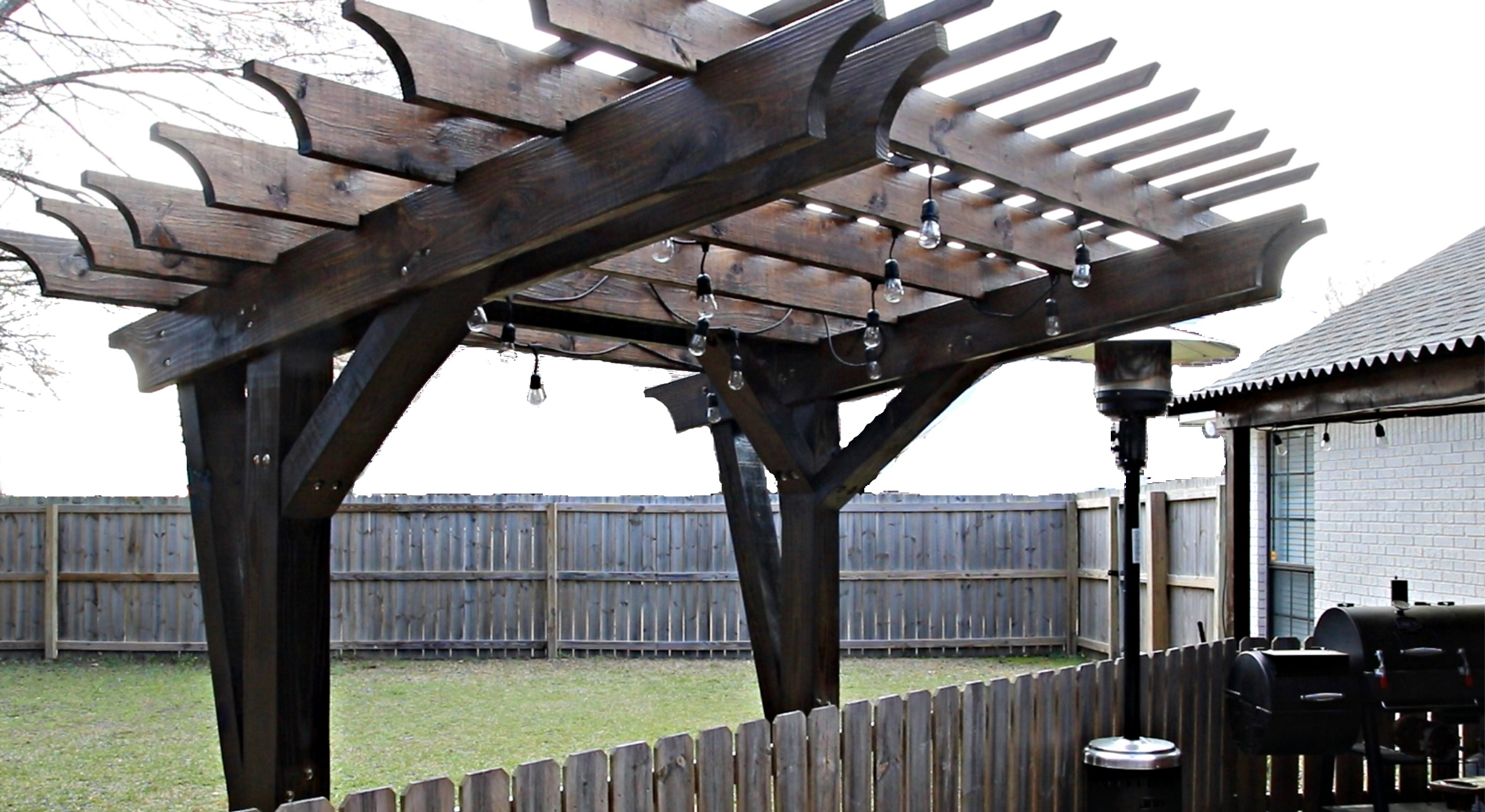 patio pergola with plans by stone and