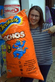 This is what six pounds of Cheetos looks like