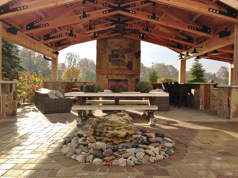 Outdoor Living Space - Stone Center of Indiana on Garden Living Space id=25302