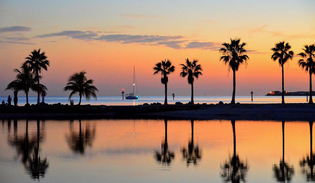 Sailboat Returns To Port In Miami Florida