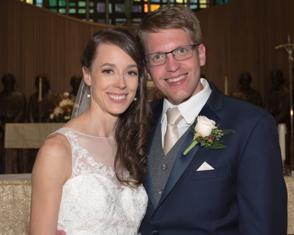 Bride And Groom In Orchard Lake Chapel