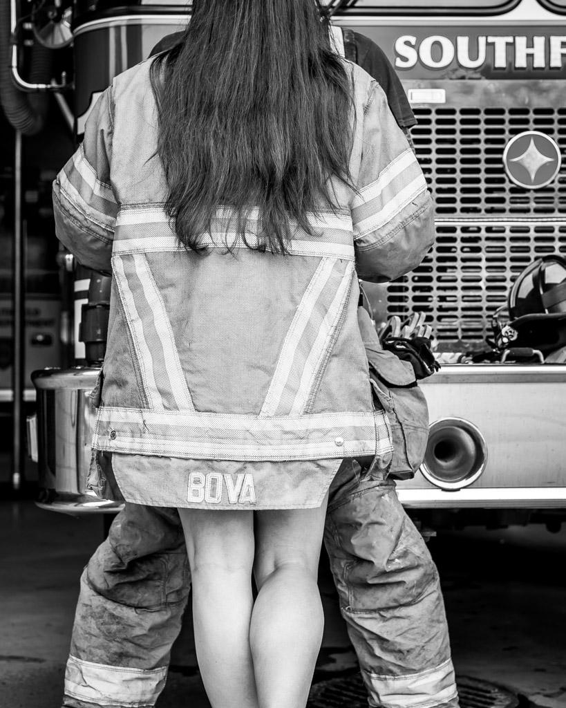 Renee Richard Fire Station Engagement Photos