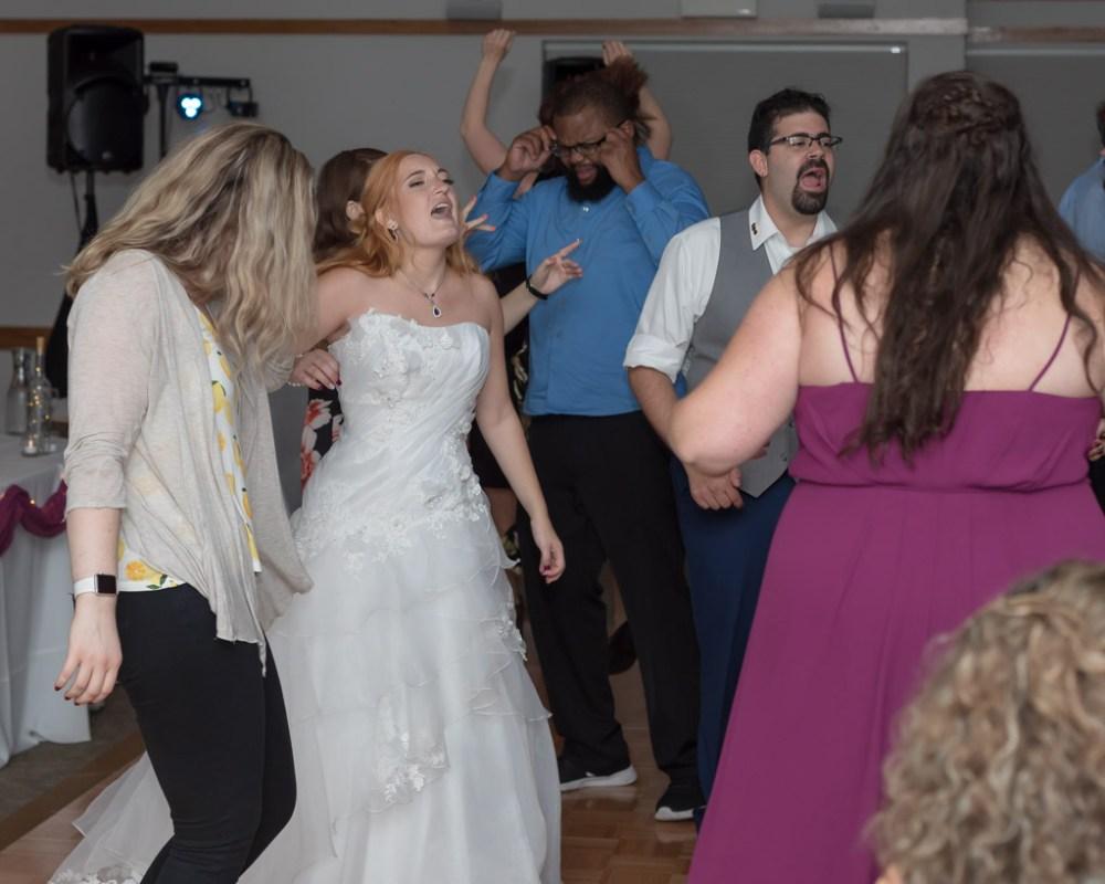 Bride Singing During Reception