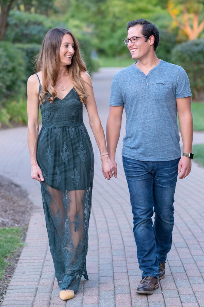 Melissa Adam Outdoors Rochester Michigan Engagement