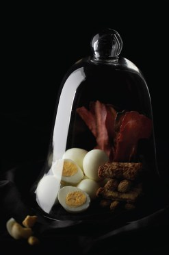 Rihanna - Hard-boiled eggs, turkey bacon, turkey sausage, at any time throughout the day.