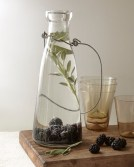 A savory herb is a great compliment to the sweetness of the fruit. You'll Need Mix together water, 1 cup blackberries, and a handful of sage leaves. Stir it up, cover, chill, and serve with ice.