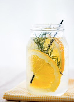 This is great for when you're sick! The vitamin C boosts your immune system and rosemary is the leading herb in fighting off infections. You'll Need Mix together water, 8 sprigs of fresh rosemary and 3 slices of fresh orange. Serve chilled and kick that cold to the curb!