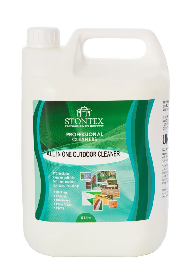 Image of Stontex All-in-One outdoor cleaner fast acting lichen and moss stain remover from natural stone and concrete