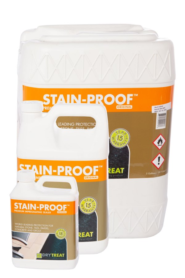 Image of Dry Treat Stain-Proof premium sealer for natural stone and paving