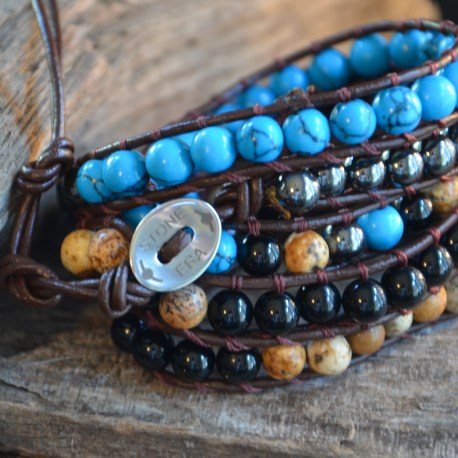 Stone Era Natural Stone Bracelets, red coral, hematite jasper, manon tremblay (1)