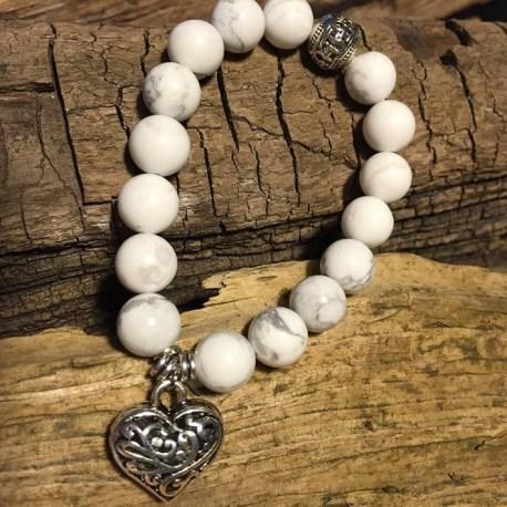 Stone Era bracelet, natural stone white turquoise manon tremblay ottawa