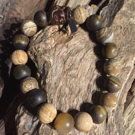 Stone Era handmade natural bracelet jasper and tiger eye with buddha manon tremblay ottawa