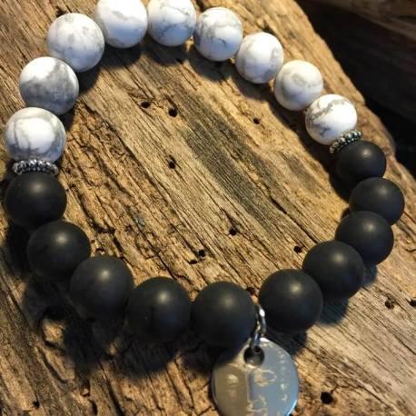 Stone Era natural stone bracelet, l onyx white turquoise manon tremblay ottawa buddha demo