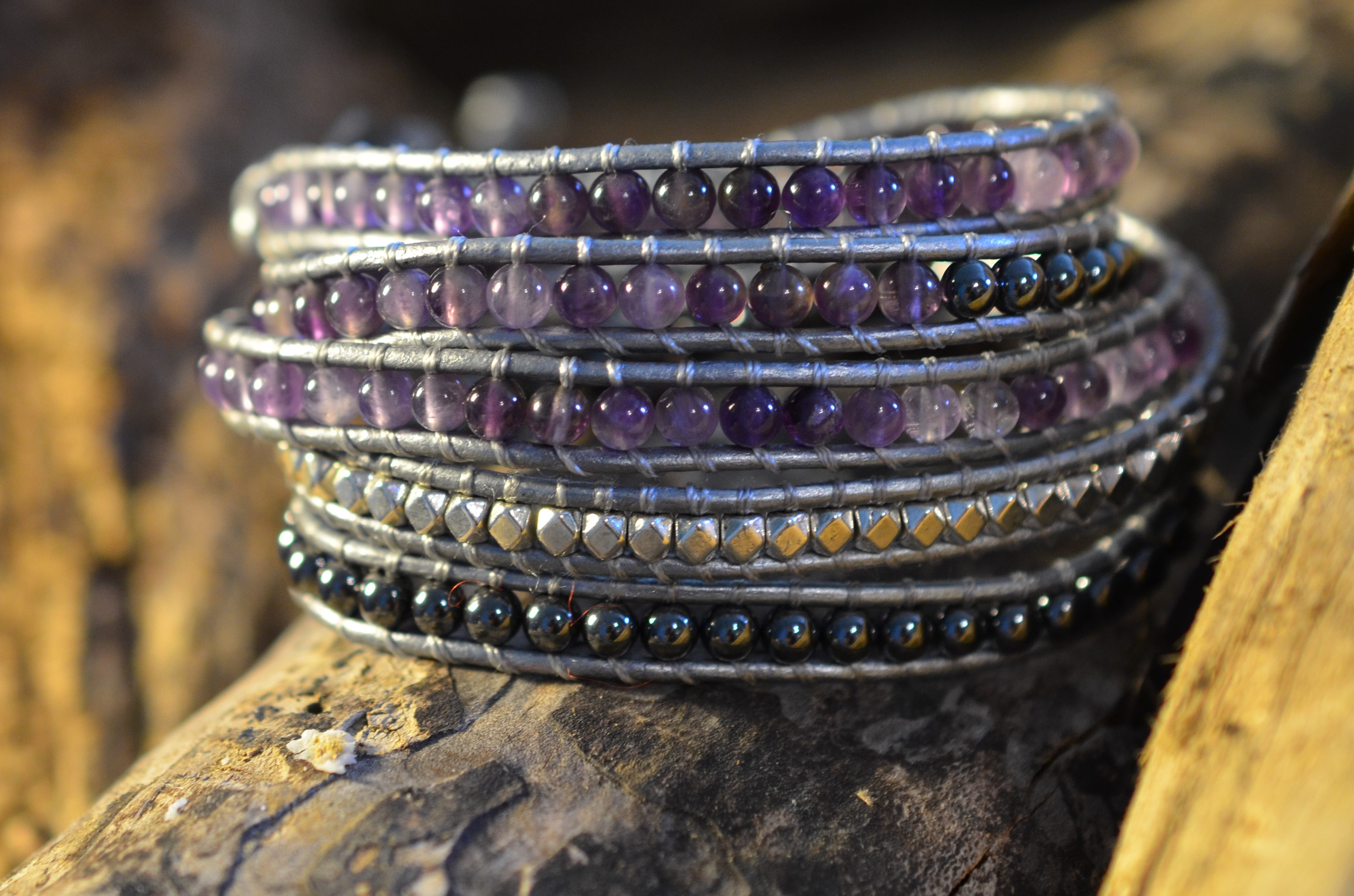stone-era-natural-stone-bracelet-manon-tremblay-ottawa-amethyst-hematite-wrap-leather