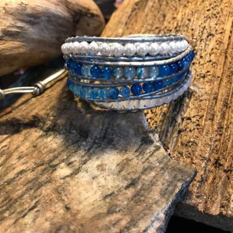 Stone Era Natural stone bracelet, manon tremblay ottawa handmade pearl, agate jade
