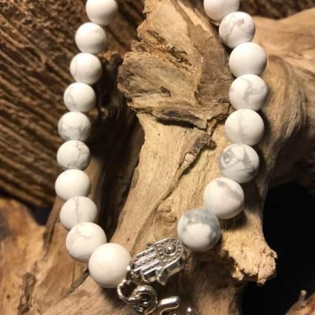 natural stone bracelet ottawa manon tremblay white turquoise handmade stone era