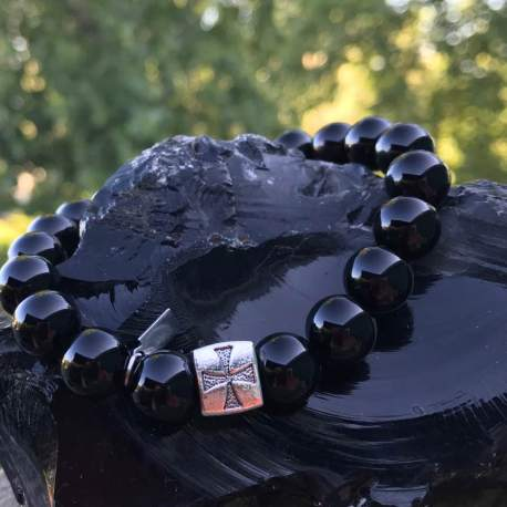 Stone Era Natural Stone Bracelet for men Manon Tremblay Ottawa onyx with cross