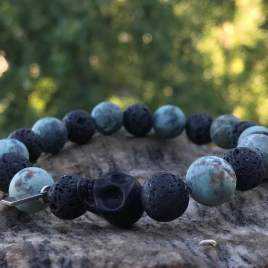 Grounded (African Turquoise – Lava with Skull) For Him