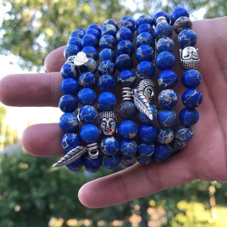 blue imperial manon tremblay ottawa handmade natural stone bracelet