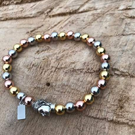Vegan pink silver and yellow with buddha manon tremblay ottawa handmade