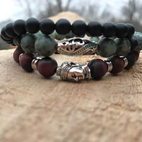stone era bracelet manon tremblay handmade ottawa red jasper onyx spider jasper for him