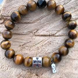 Grounded (Tiger Eye, Crystal with Cross) For Him