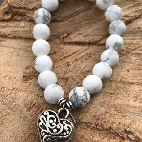 stone era bracelet manon tremblay handmade ottawa white turquoise with heart