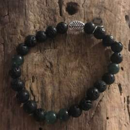 Tiny Buddha – lava and aventurine