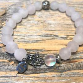 Rose Quartz with Crystal