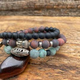 Red Tiger – Onyx – African Turquoise