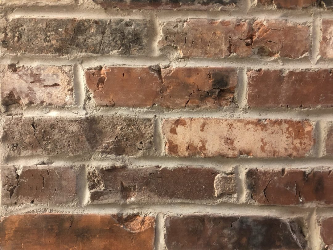 reclaimed thin brick veneer mixed floor wall sample new england mill blend