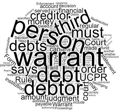 Enforcement Warrant for Redirection of Debts