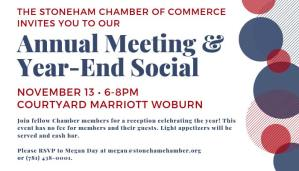 2018 Annual Meeting Stoneham MA Chamber of Commerce