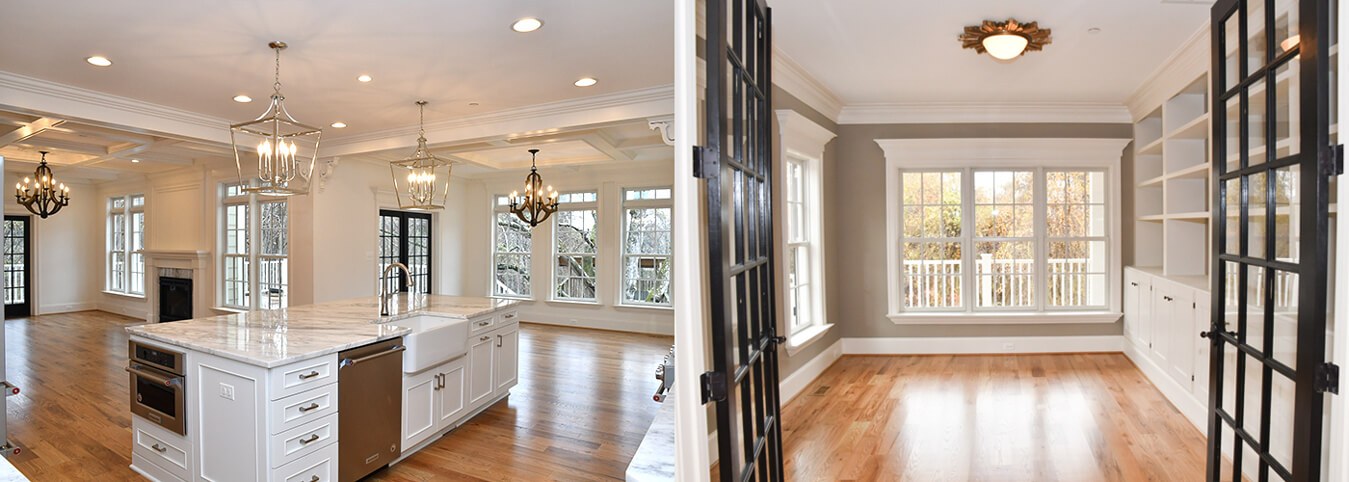 Interior designed by custom home builder Michael Creary