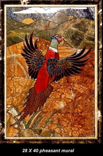 Stonelight Tile San Jose CA Custom Tile  28x40-pheasant-mural: