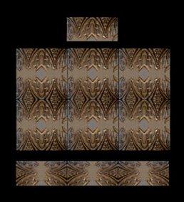 Stonelight Tile San Jose CA Custom Tile  24x36-waterfall-mural: architectural-art-deco-panel-2: