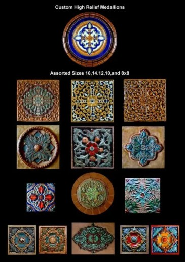 Stonelight Tile San Jose CA Custom Tile  relief-medallions: