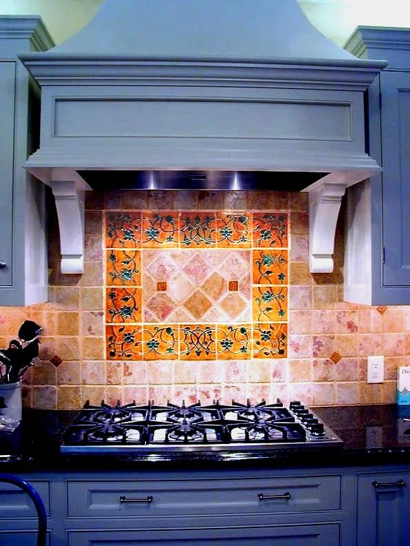 Kitchens Custom Mural Design Ceramic San Jose Ca Stonelight Tile