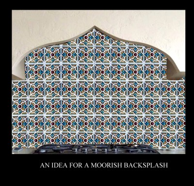 arabesque pattern backsplash Y