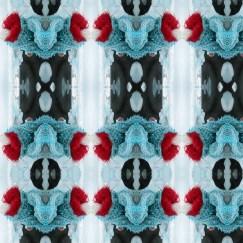 Ice fire Ormer Woman Pattern vinyl-free wallpaper